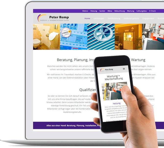 Webdesign, schmartphonefreundlich, smartphonegeeignet