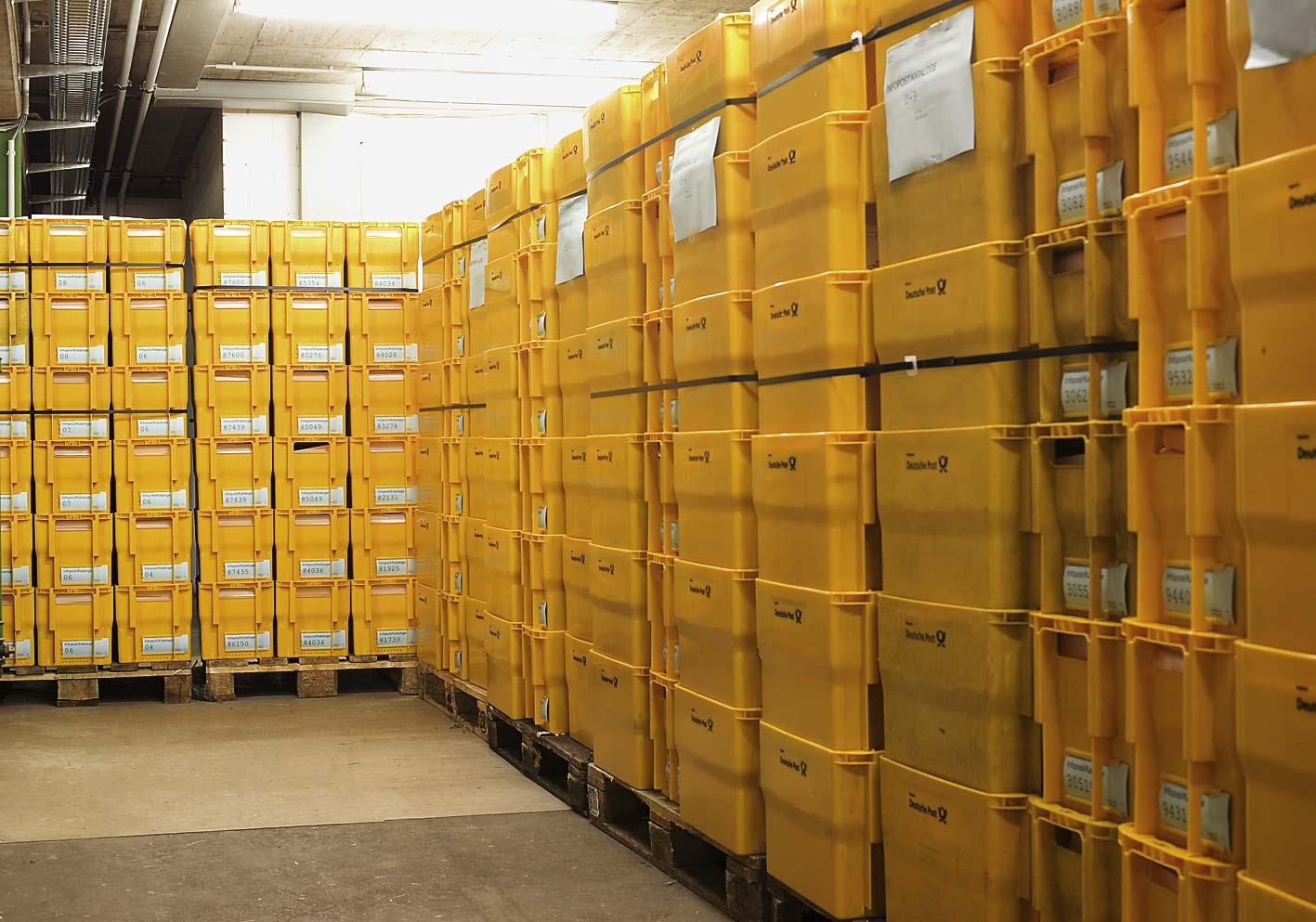 Alle Sendungen werden von uns nach Leitregion und Leitbereich vorsortiert und gekennzeichnet Im Briefzentrum der Post eingeliefert.