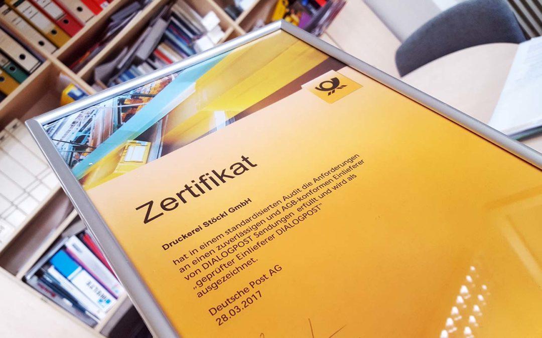 Von der Deutschen Post zertifiziert