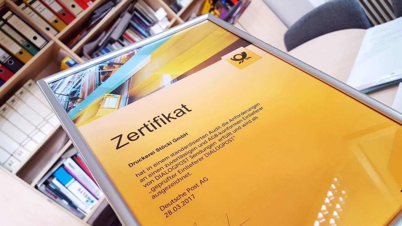 Wir wurden von der Deutschen Post für Dialogpost zertifiziert