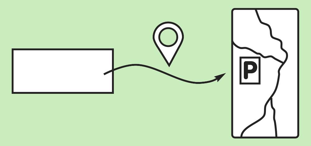 Start einer Navigation zu einem vordefinierten Ort